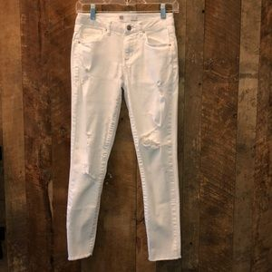 RSQ Like new white Baja ankle jeans